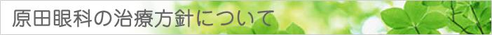 原田眼科の治療方針について